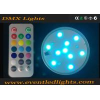 Wholesale Illuminate 3 Inch LED Light Base For Wedding Centerpiece / Glass Cup , No Flicker from china suppliers