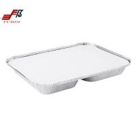 Buy cheap 2 Compartments Aluminum Foil Lunch Box Take Away Multi Size from wholesalers