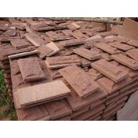 Buy cheap Mushroom Red Sandstone Wall Cladding from wholesalers