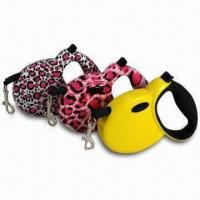 Wholesale Retractable Dog Lead Leash with Durable 3/5m Flat Tape, For Dogs Up to 90lbs from china suppliers