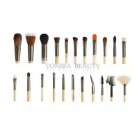 Custom 22 Piece Full Set Private Label Makeup Brushes Wood Handle For Face , Eyes And Lip