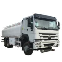 Buy cheap 20000 Liters 6000 Gallon Diesel Oil Transporter Fuel Tank Truck Sinotruk Howo White Color from wholesalers