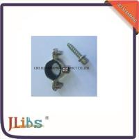 Buy cheap Iron Sheet Material Pipe Fitting Clamps M7 Withinner Rubber with Screw from wholesalers