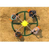 Buy cheap Glvanized Steel Spring Rider Playground Equipment Green Rotational from wholesalers