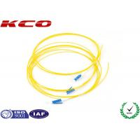 Buy cheap LC UPC Simplex Fiber Optic Pigtail 0.9mm PVC LSZH / Fibre Optic Patch Cable OFNR from wholesalers