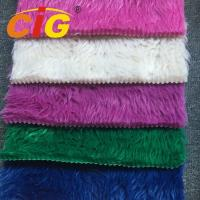 Buy cheap 100% Polyester Long Pile Faux Fur Fabric By The Yard For Car Seat Cover from wholesalers