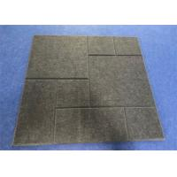Buy cheap Eco - Friendly Acoustic Felt Tiles , 600mm*600mm*12mm Sound Reducing Ceiling Tiles from wholesalers