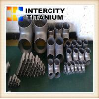 Buy cheap ANSI B16.9 gr2 Titanium Reducing Tees in stock china factory from wholesalers