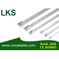 Buy cheap 4.6*200mm SS316 grade Ball-lock stainless steel self-locking cable tie from wholesalers