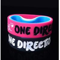 Wholesale One Direction Debossed and colorfilled in silicone bracelets wristband from china suppliers