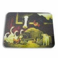 Buy cheap Breakfast Cutting Board/Plate, Made of toughened glass, Customized Designs and Logos are Welcome from wholesalers