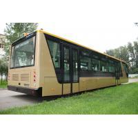Buy cheap Low Carbon Alloy Steel 51 Passenger Airport Apron Bus , 4 Strok Diesel Engine Bus product