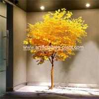 Wholesale Plastic Plant Yellow Leaves Artificial  Evergreen Trees / Restaurant Decor Fake Brich Tree from china suppliers