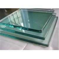 Buy cheap 8mm Thickness Tempered Safety Glass / Toughened Glass Cut To Size Polished Edges from wholesalers