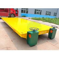 Buy cheap Shipyard Steel Rod Transport Battery Operated Motorized Transfer Car On Railroad from wholesalers