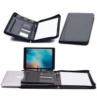 Buy cheap Faux Leather Business Portfolio Folder Classic Black With Solar Calculator from wholesalers