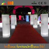 Buy cheap Colorful Wedding Decoration Flower Pots Plastic Flower Pillars for Indoor / Outdoor from wholesalers