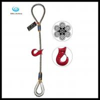 Buy cheap Eye Sliding Choker Wire Rope sling with Thimble from wholesalers
