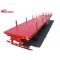 Buy cheap 40-Foot Flat Panel Platform Semi Trailer With Cuttings Platform And Waterproof Cover from wholesalers