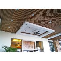 Buy cheap Suspended Wood Plastic Composite Ceiling Panels for Office / Hotel from wholesalers