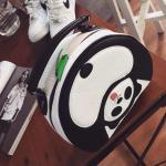 Buy cheap 2015 Fashion Europe Women Tote Handbag Leather Panda stylish Bag Black White from wholesalers