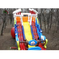 Buy cheap Single Board Blow Up Dry Slide / Double Climbing Ladders Sea Wave Slide from wholesalers