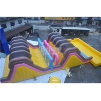 Buy cheap Custom Amusement Amazing Adults Inflatable Obstacle Course With Swimming Pool from wholesalers