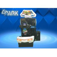 China Hardware , Acrylic Material Driving Car Racing Game Machine For Children on sale