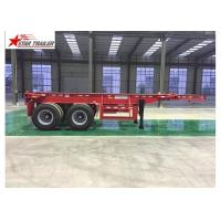 Buy cheap 2/3/4 Axles Flatbed Container Trailer Custom Color With 3mm Diamond Plate from wholesalers