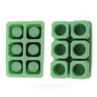 Durable Silicone Ice Shot Glass Molds , 6 Cups Silicone Square Ice Cube Trays