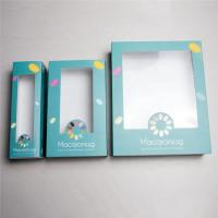 Buy cheap Light White Card Board Paper Gift Box With PVC Window Logo Customed Printing from wholesalers
