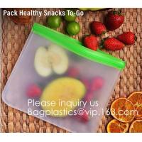 Buy cheap Eco friendly Zipper Leakproof Freezer Bag Washable Reusable PEVA Sandwich Snacks Storage Bags For Fruits Vegetables Lunc from wholesalers