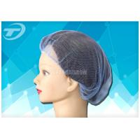 "Single use nylon hairnet  20 "", soft and breathable , white , black and blue color"