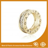 Wholesale Crystal Gold Silver Wedding Couple Ring , 925 Sterling Silver Couple Ring from china suppliers