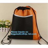 Buy cheap Custom made printed non woven fabric drawstring shoe dust carrier bag with logo/wholesale nonwoven cheap carry travel sh from wholesalers