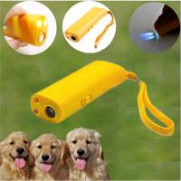 Buy cheap LED Rechargeable Ultrasonic Dog Repellent Handheld Dog Deterrent to Stop Bark Device from wholesalers
