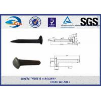 ASTM Carbon steel  Plain oil Railroad Track Spikes For railway Manufactures