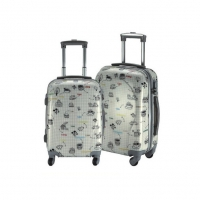 Wholesale TSA Lock 8x Mute Wheels 210d Floral Hardside Luggage from china suppliers