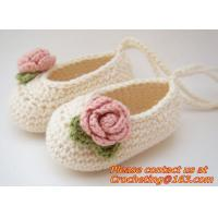 Buy cheap baby moccasins Newborn baby girl shoes crochet baby shoes infant sandals crochet kids slip from wholesalers