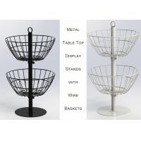 Buy cheap 2 Baskets Metal Table Top Display Stands For Supermarkets Easy Movement from wholesalers