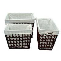Wholesale Straw laundry basket, 07 from china suppliers