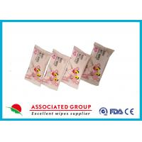 Customized Unscented Baby Wet Wipes , Safty 8pcs Kids Wet Wipes For Hands Manufactures