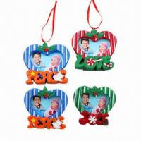 Buy cheap Christmas Photo Frame, Ornament Set with Peace, Love and Joy Lettering, Comes in Various Designs from wholesalers