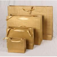 Buy cheap Laser finishing paper shopping bag any size color can customize from wholesalers
