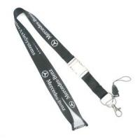 Buy cheap Customized Black Cell Phone Neck Lanyard , Smartphone Neck Strap With Company Logo from wholesalers