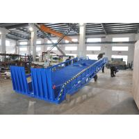 Buy cheap Adjustable Container Loading Mobile Dock Ramp Manual Operating Blue Color from wholesalers