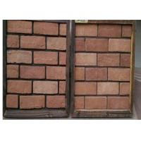 Buy cheap Customized Exterior Faux Brick Panels , Thin Brick Veneer For Fireplace / TV Walls Decration from wholesalers