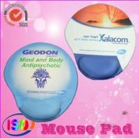 Buy cheap Promotional mouse pad with gel wrist rest for advisement from wholesalers