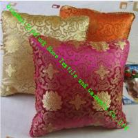 China Square Knitted Quilted Silk Throw Pillows , Soft Decorative Sofa Cushions on sale