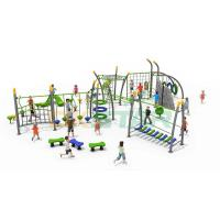 Buy cheap Large Multifunctional Climbing Outdoor Gym Slide Outdoor Playground Equipment For Kids from wholesalers
